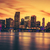 CIty of Miami at sunset stock photo © vwalakte