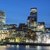 Londra · financial · district · ufuk · çizgisi · gün · batımı · kare · şehir - stok fotoğraf © vwalakte