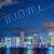 Miami · belváros · város · színes · épületek · pálmafák - stock fotó © vwalakte