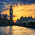 view of big ben and westminster bridge at sunset stock photo © vwalakte