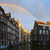 Amsterdam · gece · aziz · kilise · akşam · karanlığı · su - stok fotoğraf © vwalakte