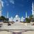 kilátás · híres · mecset · Abu · Dhabi · éjszaka · víz - stock fotó © vwalakte