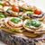 vegetariano · mini · caseiro · servido · pizza - foto stock © w20er