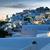 garfo · pôr · do · sol · mediterrânico · céu · verão · azul - foto stock © w20er