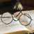 old glasses on antique book stock photo © w20er