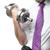businessman holding silver dumbbell stock photo © w20er