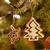 mézeskalács · mikulás · karácsony · díszítések · étel · zöld - stock fotó © w20er