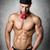 atleet · denim · broek · Maakt · een · reservekopie · jonge · man · goed - stockfoto © w20er