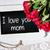 anyák · nap · üzenet · vörös · rózsák · kártya · gyönyörű - stock fotó © w20er