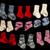 mavi · beyaz · bebek · çorap · yalıtılmış - stok fotoğraf © w20er