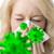 beteg · nő · papírzsebkendő · vírus · portré · szőke - stock fotó © w20er