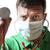 desesperado · médico · estetoscópio · máscara · cirúrgica · verde · camisas - foto stock © w20er