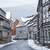 street with half timbered houses with snowfall stock photo © w20er