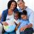 Familie · halten · Welt · Sofa · Frau · Lächeln - stock foto © wavebreak_media