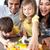 mutlu · kız · anne · mutfak · genç · aile - stok fotoğraf © wavebreak_media
