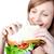 caucasiano · mulher · sanduíche · branco · casa - foto stock © wavebreak_media
