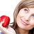 parlak · kadın · elma · beyaz · gıda - stok fotoğraf © wavebreak_media