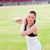 aantrekkelijk · atletisch · vrouw · shot · opleiding · stadion - stockfoto © wavebreak_media