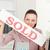 kobieta · interesu · sprzedany · podpisania · powyżej · miniatura - zdjęcia stock © wavebreak_media