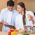 sevmek · çift · pişirmek · mutfak · mutlu - stok fotoğraf © wavebreak_media
