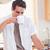 午前 · ニュース · ハンサム · 若い男 · 飲料 · コーヒー - ストックフォト © wavebreak_media