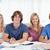 Gruppe · lächelnd · Studenten · aussehen · Kamera · Pfund - stock foto © wavebreak_media
