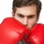 fit man wearing red boxing gloves stock photo © wavebreak_media