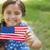 portret · szczęśliwy · patriotyczny · dziewczyna · USA - zdjęcia stock © wavebreak_media