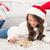 女の子 · サンタクロース · 帽子 · クローズアップ · 肖像 · かわいい - ストックフォト © wavebreak_media