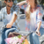 Cute · пару · велосипедов · счастливым · лет - Сток-фото © wavebreak_media