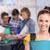 female student holding folder in college stock photo © wavebreak_media
