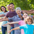 extended family smiling in the park stock photo © wavebreak_media