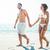 gelukkig · paar · glimlachend · strand · man · zomer - stockfoto © wavebreak_media