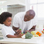 Little boy cooking with his father stock photo © wavebreak_media
