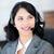 aantrekkelijk · zakenvrouw · hoofdtelefoon · praten · klant - stockfoto © wavebreak_media