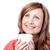 jonge · mooie · vrouw · koffie · witte - stockfoto © wavebreak_media