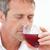 knappe · man · drinken · rode · wijn · home · ontspannen · sofa - stockfoto © wavebreak_media