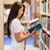 portré · diákok · olvas · áll · felfelé · könyvtár - stock fotó © wavebreak_media