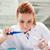 güzel · ciddi · bilim · adamı · sıvı · laboratuvar - stok fotoğraf © wavebreak_media