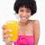 szkła · sok · pomarańczowy · młodych · kobiet · uśmiechnięty · pomarańczowy - zdjęcia stock © wavebreak_media