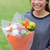 Young girl holding a beautiful bunch of flowers stock photo © wavebreak_media