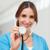 gülen · hemşire · stetoskop · koridor · mutlu - stok fotoğraf © wavebreak_media