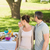 couple with family dining at outdoor table stock photo © wavebreak_media