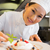 asian · Küchenchef · lächelnd · Kamera · Restaurant · Küche - stock foto © wavebreak_media