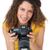 portret · vrouwelijke · fotograaf · witte · gelukkig · technologie - stockfoto © wavebreak_media