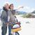 despreocupado · casal · bicicleta · piquenique · praia · brilhante - foto stock © wavebreak_media