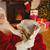 smiling santa claus reading newspaper stock photo © wavebreak_media