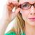 zöld · szemüveg · izolált · fehér · nők · orvosi - stock fotó © wavebreak_media