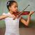 portré · aranyos · kislány · játszik · hegedű · osztályterem - stock fotó © wavebreak_media