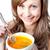 bonitinho · mulher · sopa · tigela · branco - foto stock © wavebreak_media